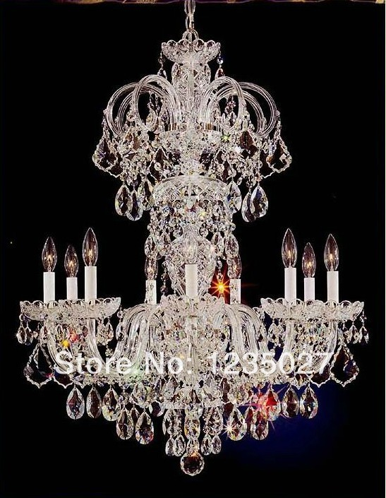 все цены на Hot sale in stock Crystal chandelier lamp K9 crystal premium quality SY1012/10L with 10 arms D850mm онлайн