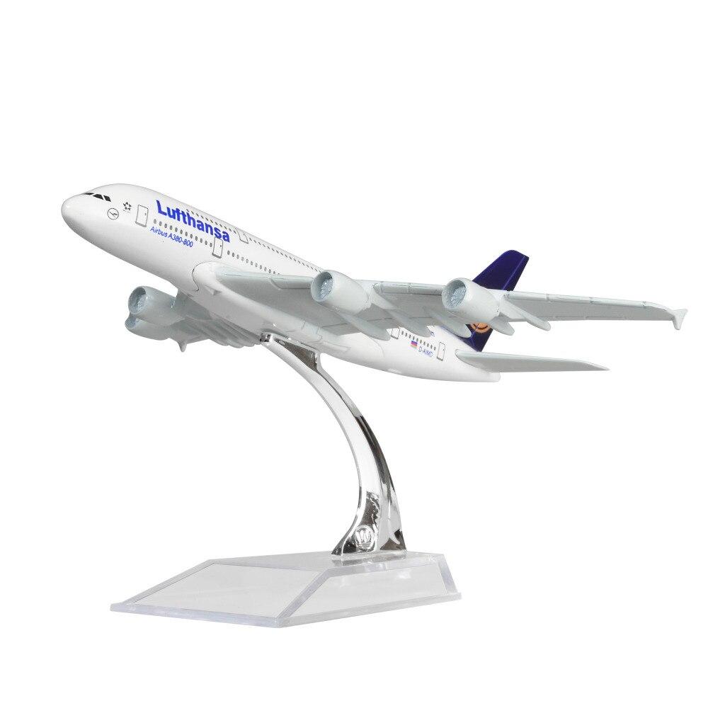 Alemanha Deutsche Lufthansa AG A380 sólida 14.5 centímetros liga de metal modelos de avião aeronaves modelo de presente de Aniversário da criança Frete Grátis