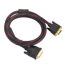 1.4m DVI Male to VGA Male Cable DVI I 24+5 Turn To VGA Connect Wire cord  DVI I to VGA Video Line for HDTV DVD Notebook