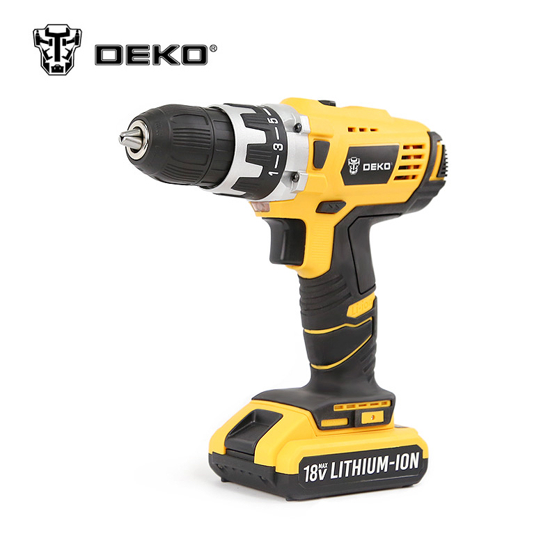 ФОТО DEKO 18V DC New Design Mobile Power Supply Lithium Battery Cordless Drill Power Tools Electric Drill