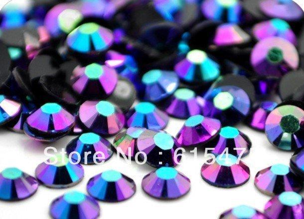 5mm Jelly Sapphire AB Cor SS20 strass Resina cristal flatback, Nail Art Pedrinhas, 30,000 pçs/saco