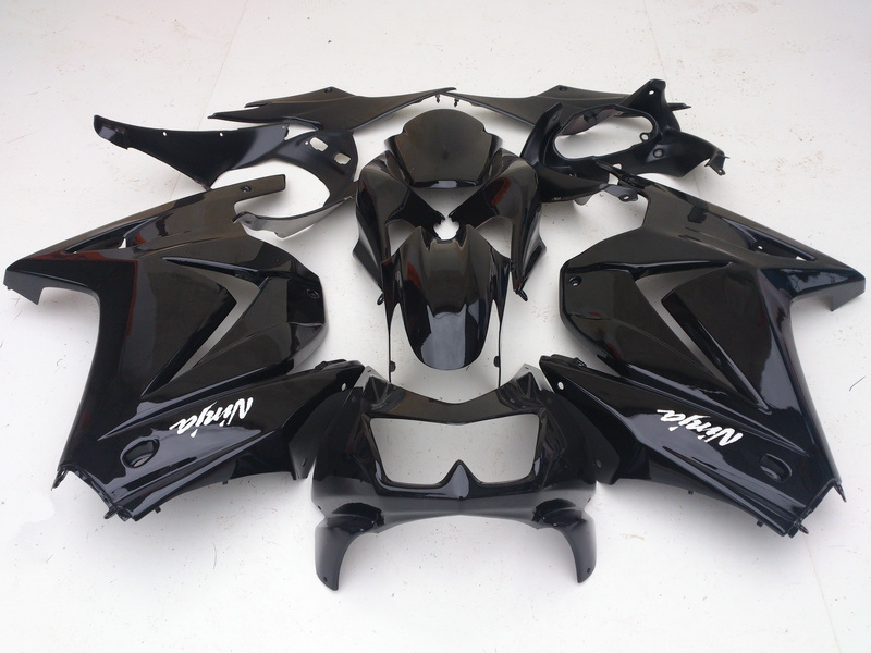 цены All black DIY for Kawasaki Ninja 250r Fairings bod kit 2008 - 2014 EX250 2009 2010 2011 2012 ZX 250 fairing kits parts R4I5