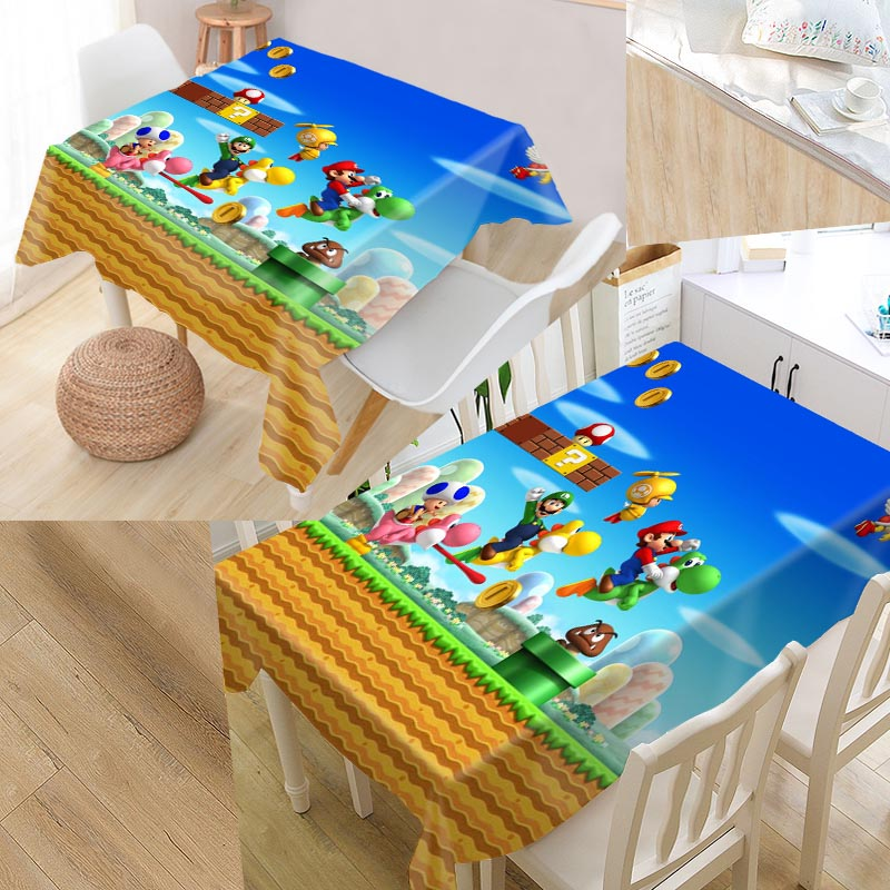225 & US $14.05 26% OFF|Custom Super Mario Table Cloth Oxford Rectangular Waterproof Oilproof Table Cover Wedding Tablecloth \u0026L035SJ-in Tablecloths from ...