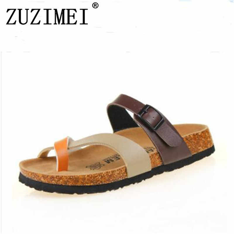 0049b1f6e4ec7 2018 New Summer style Beach Cork Slipper Flip Flops Sandals Women Mixed  Color Casual Slides Shoes