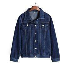 Women Ulzzang Autumn Winter Vintage Top Nostalgic Denim Jacket Loose Bule Coat Fashion Short Jacket Outerwear Female Blusas S243