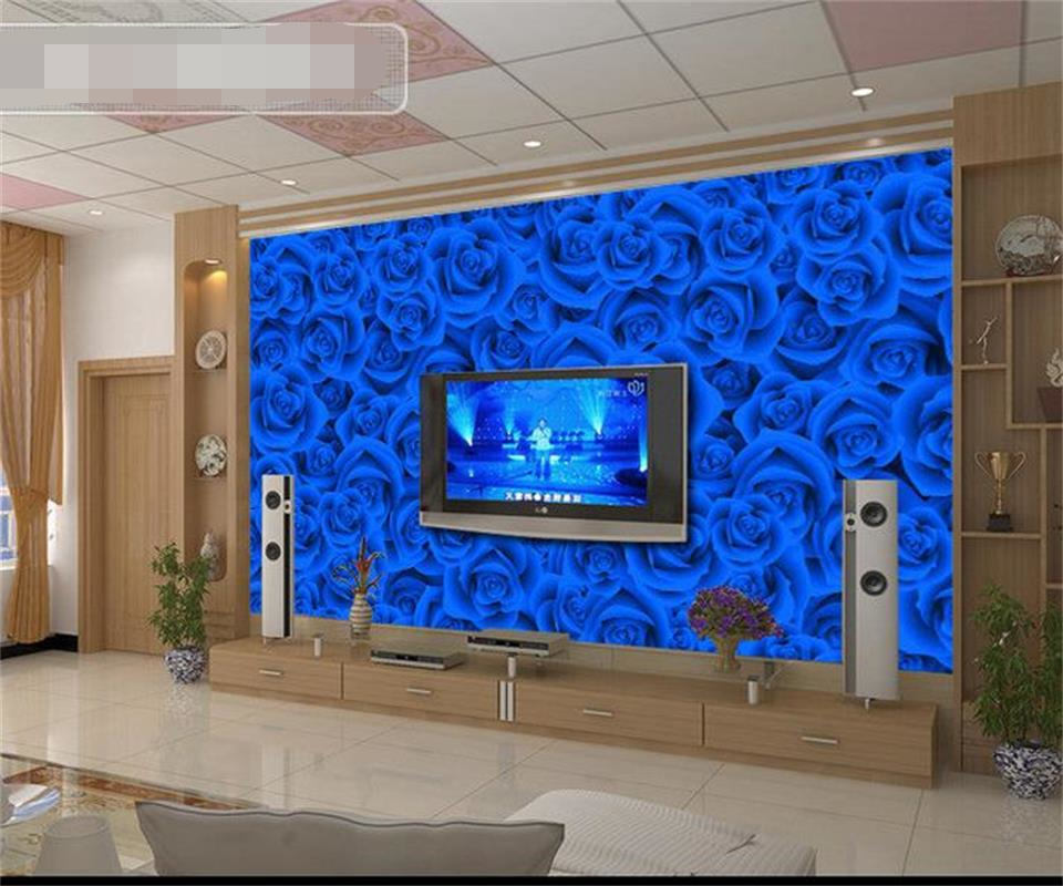 Us 15 3 49 Off Wallpaper 3d Photo Large Mural Decor Room Backdrop Photographic Big Colour Roses Restaurant Modern Wall Painting For Living Room In