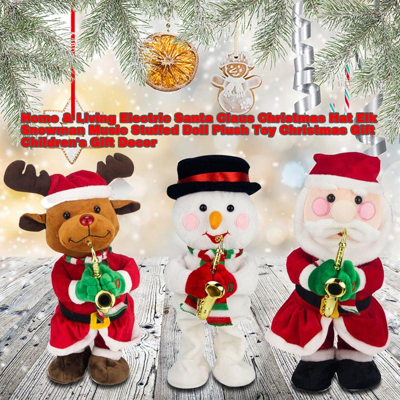 Search For Flights Electric Santa Claus Christmas Hat Elk Snowman Music Stuffed Doll Plush Toy Christmas Gift Childrens Gift Decor Activating Blood Circulation And Strengthening Sinews And Bones Woodworking Machinery & Parts
