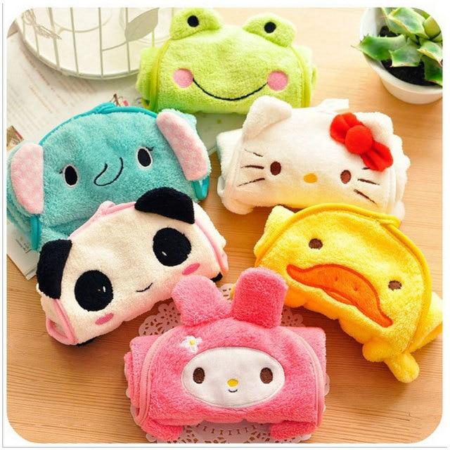 Drop shipping Lovely Cartoon Character towel, cute animals baby hand towel,cartoon hanging bath towel