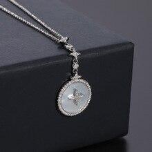 UMGODLY fajne marka matka naszyjnik z muszelek moda pełna wielokolorowa cyrkonia sześcienna urok wisiorek w kształcie gwiazdy kobiety Party biżuteria New Arrival