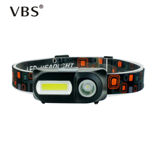 Led Headlamp Usb Charging Head Torch Led Cob+XPE Led Head Light Rechargeable 18650 On Forehead Head Lamp For Camping Hunting