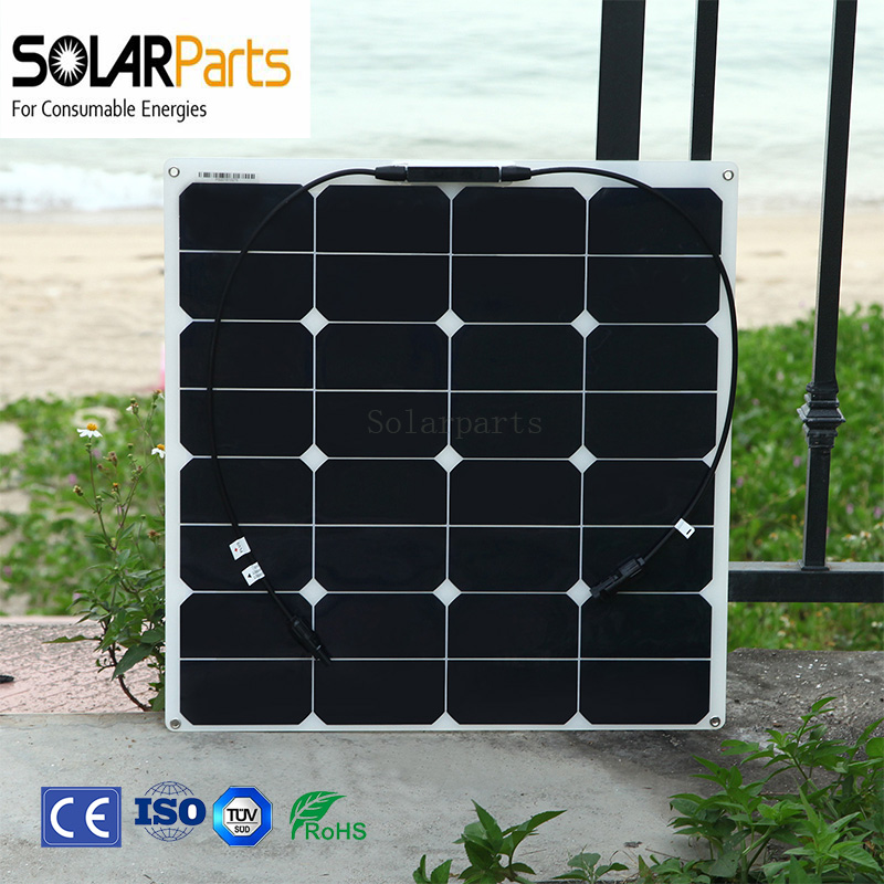 2PCS 50W Flexible Photovoltaic Solar module with high efficiency solar cell module for charging  cell phone laptop power bank photovoltaic technology for socially viable product design