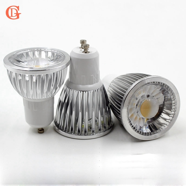 buy 3w 5w 7w dimmable gu10 led spotlight dimmable bulb with lens led cob. Black Bedroom Furniture Sets. Home Design Ideas
