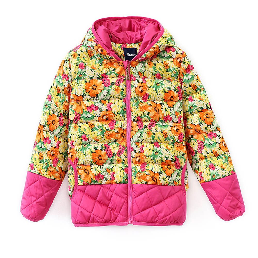 Free Shipping Girl Winter Down Jacket  Kids Coat Outwear Printed Folk Russian Style Duck Patchwork High quality