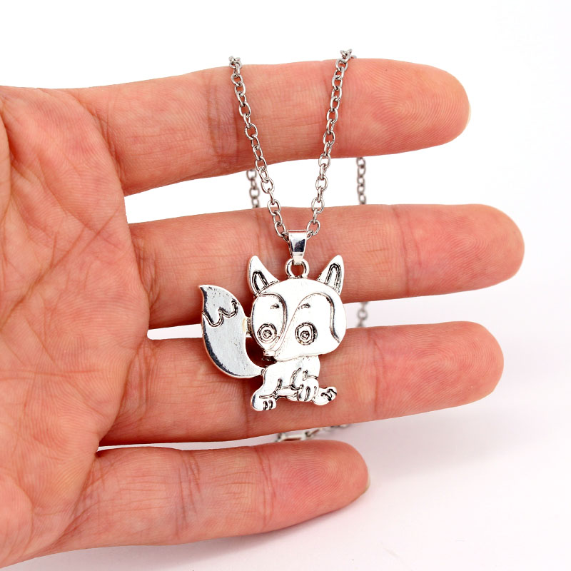 hzew cute cunning Ancient silver fox pendant necklace in Chain Necklaces from Jewelry Accessories