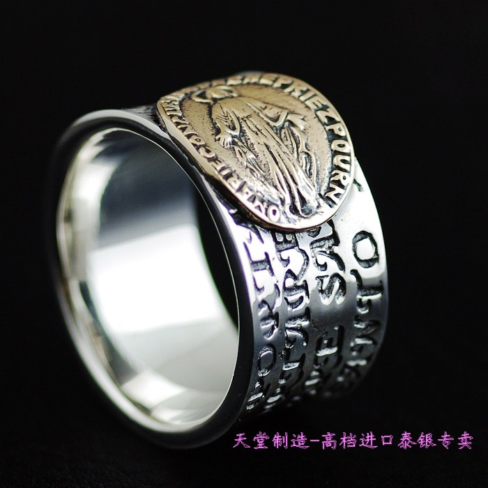 Thailand imports, 925 silver gold virgin Silver Ring