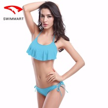SWIMMART bikin sexy chest 2019 new fashion ruffled swimwear women bikini push up bathing suit swimming
