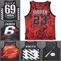 2015 verano nueva camiseta 3d hombres/mujeres tops tees imprimir flores hba Hip Hop Jordan culturismo regata masculina chaleco de la marca