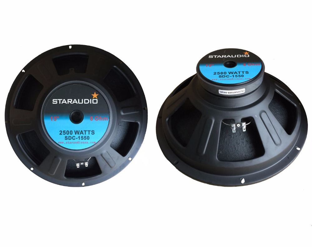 "STARAUDIO 2Pcs 15"" 2500 W 8 Ohm Raw DJ Speaker Subwoofer 51oz Magnet Sub Woofers SDC-1550"