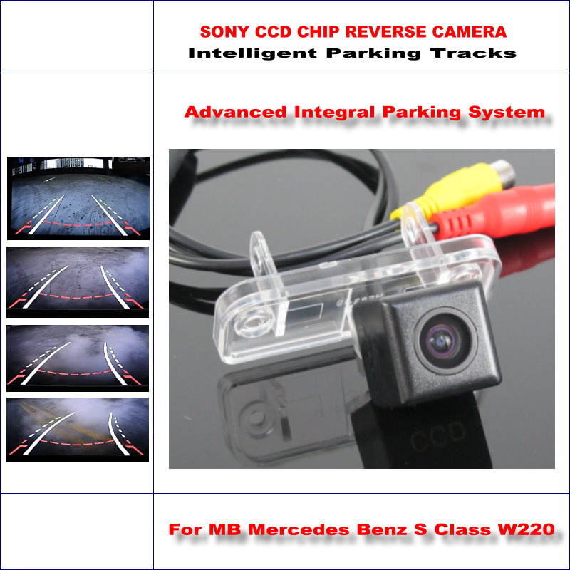 Dynamic Guidance Car Reverse Rear Camera For MB Mercedes Benz S Class W220 / 580 TV Lines HD 860 Parking Intelligentized