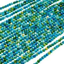 "Wholesale Natural Stone Beads 4mm Green Blue Rain Flower Strand 15"" For DIY Necklace Jewelry Making Free Shipping(China)"