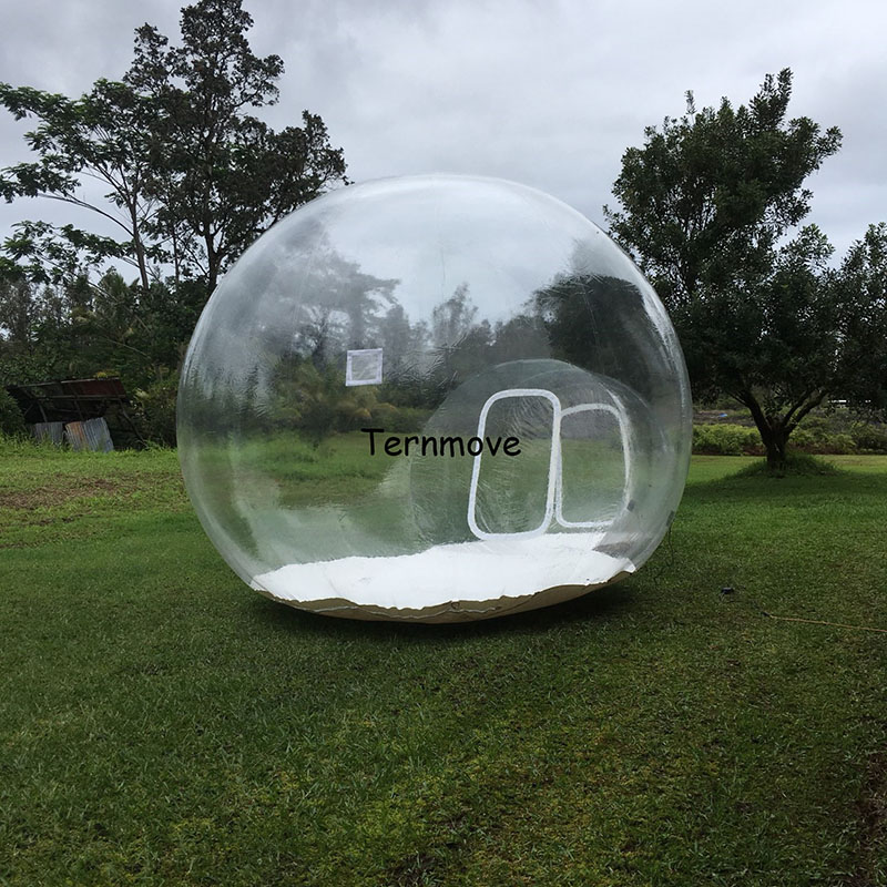 inflatable clear bubble tent inflatable dome bubble house for camping 3-4 bubble tree luxury tents transparent show room цена 2017