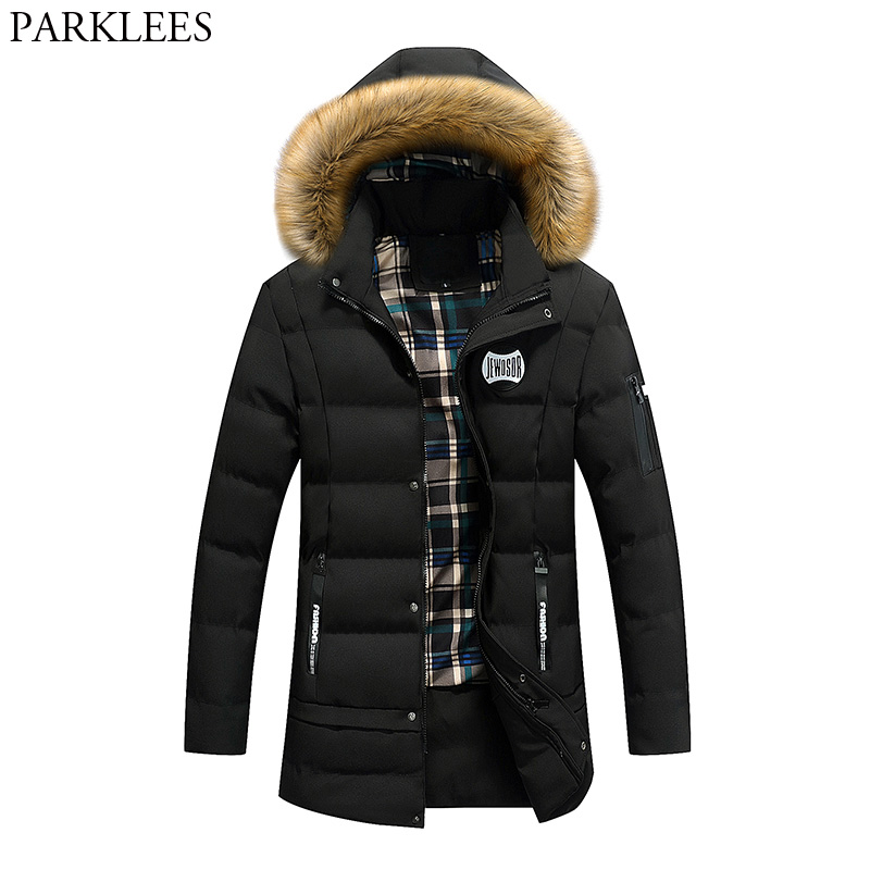 Black Thick Jacket Men 2017 Brand New Men Parka Fur Collar Mens Jackets And Coats Warm Winter Coat Casual Slim Fit Parkas Homme winter jacket men thick velvet coat thermal warm windproof hood jackets mens outwear parka homme jaqueta men s casual coats