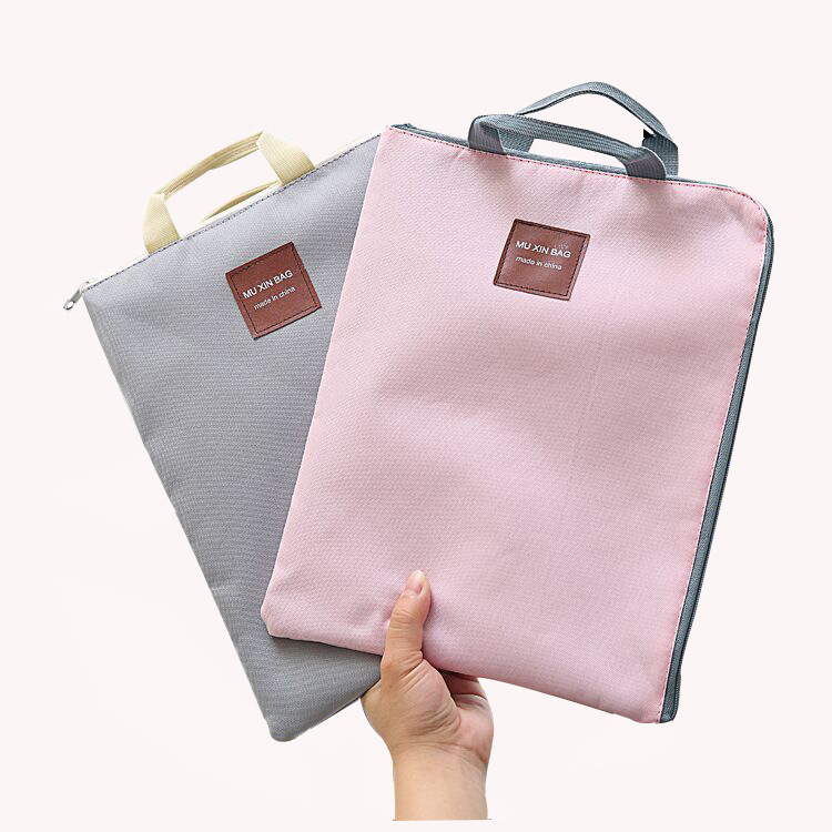 1PC New Simple Solid A4 Big Capacity Document Bag Business Briefcase Storage File Folder For Student Gift Papers Stationery