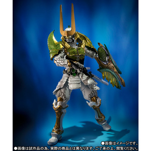 "Image 4 - BANDAI Tamashii Nazioni SIC SUPER FANTASIOSO CHOGOKIN Esclusivo Action Figure Kamen Rider Zangetsu Melone Braccia da ""Gaim"""