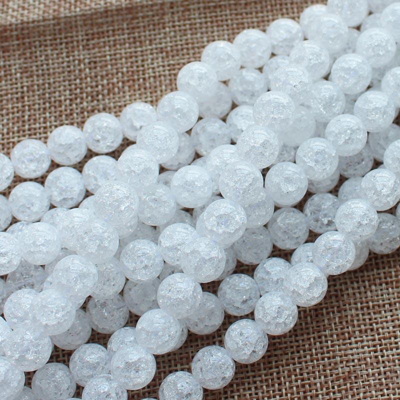 Mini. ordren er $ 7! 4,6,8,10,12,14,16,18,20mm White Crack Quartz - Mode smykker - Foto 6