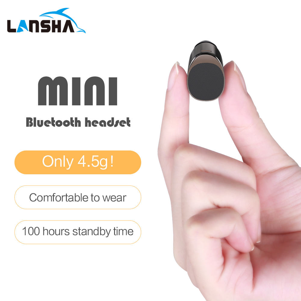 LANSHA Super Mini Bluetooth Earphones with Mic Handsfree Earbuds with Case CSR4.1 Wireless Headset for Mobile phone auriculare
