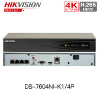 HIKVISION HIK DS 7604NI K1 4P 4CH Embedded Plug Play 4K PoE NVR For IP Camera