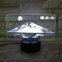 Janpan Mount Fuji USB 3D led night light Touch Sensor RGB Festival Gift Famous scenic decorative lights Desk lamp bedroom 3 day pass fuji rock festival 2017 niigata