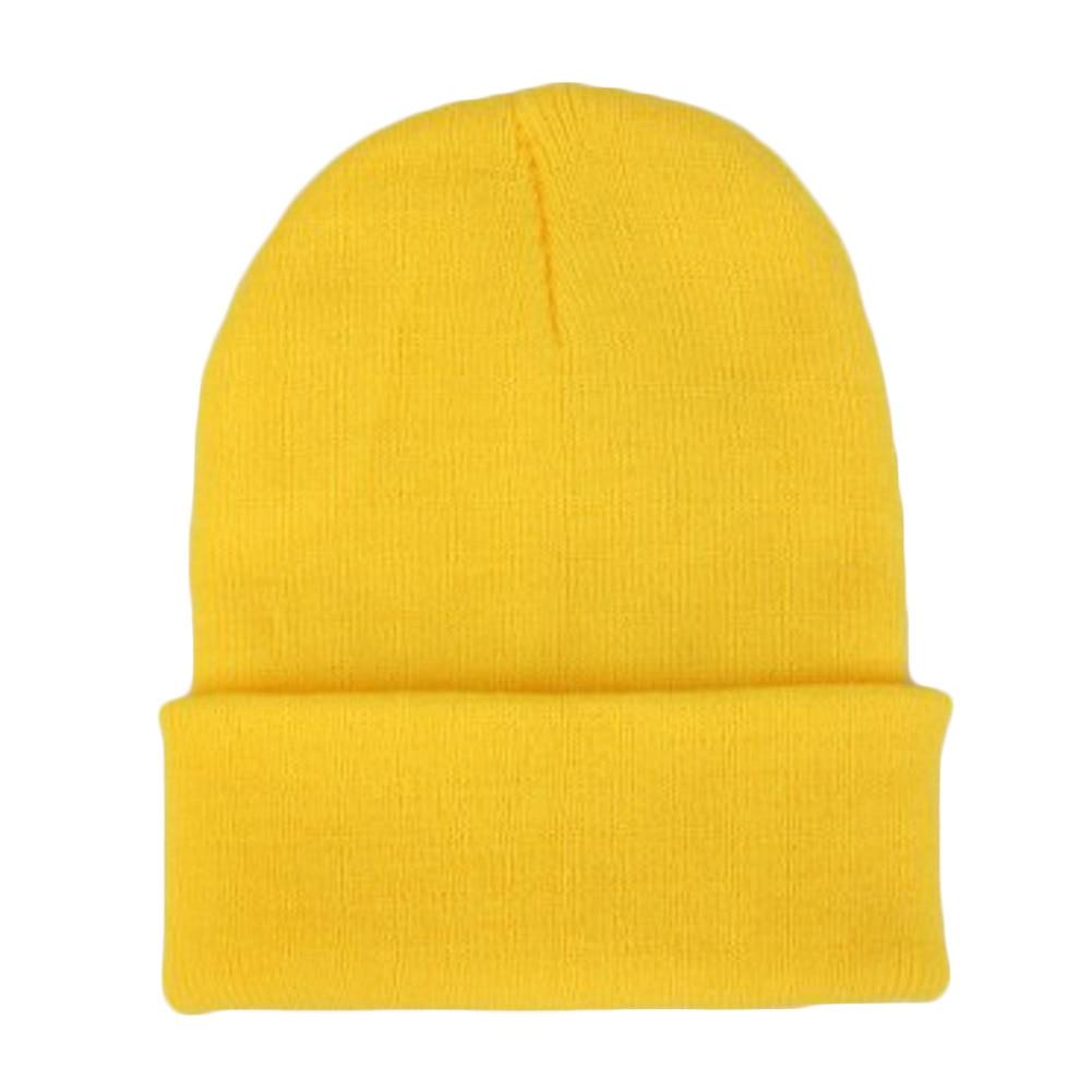 Fast Deliver Men Women Beanie Knit Ski Cap Hip-hop Winter Warm Elastic Wool Yarn Cuff Hat 2017 Apparel Accessories Men's Hats