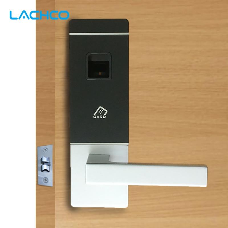 Lachco Biometric Door Lock Fingerprint 4 Cards 2 Keys Electronic