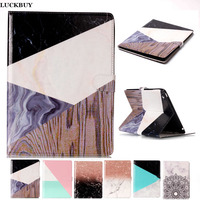LUCUBUY Marble Pattern PU Leather Flip Case For Apple IPad 2 3 4 Original Tablet Case