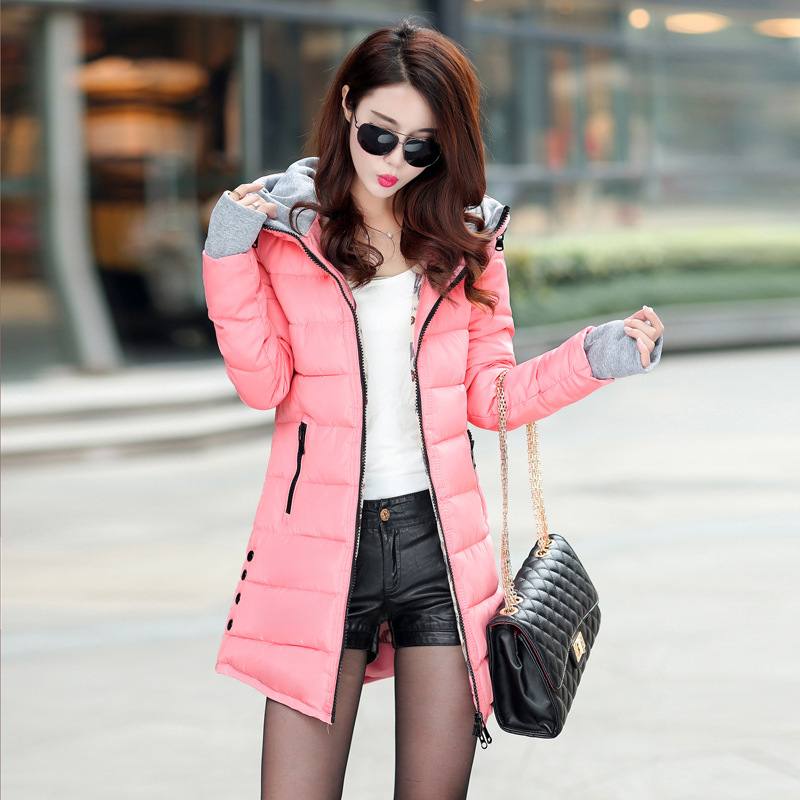 2018 Sale Winter Jacket Women Plus Size Womens Jackets And Coats Female Cotton Padded Long Parka Korean Hooded Chaqueta Mujer
