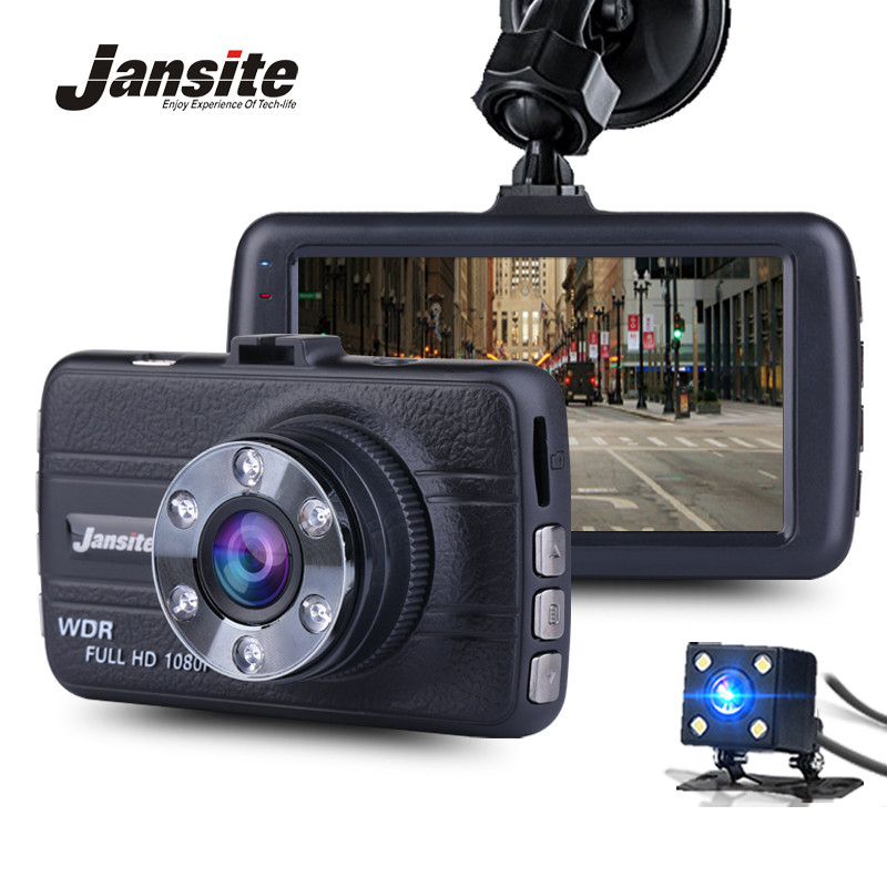 Jansite FHD 1080P Mini Dash Cam Car DVR Blackbox Camera Dashboard Camera Vehicle Dual Lens Camera Loop Video Recorder G-Sens цена
