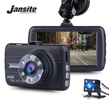 Jansite FHD 1080 P мини регистраторы Видеорегистраторы для автомобилей Blackbox Камера приборной панели Камера автомобиля Двойной объектив Камера цикл видео Регистраторы G- sens