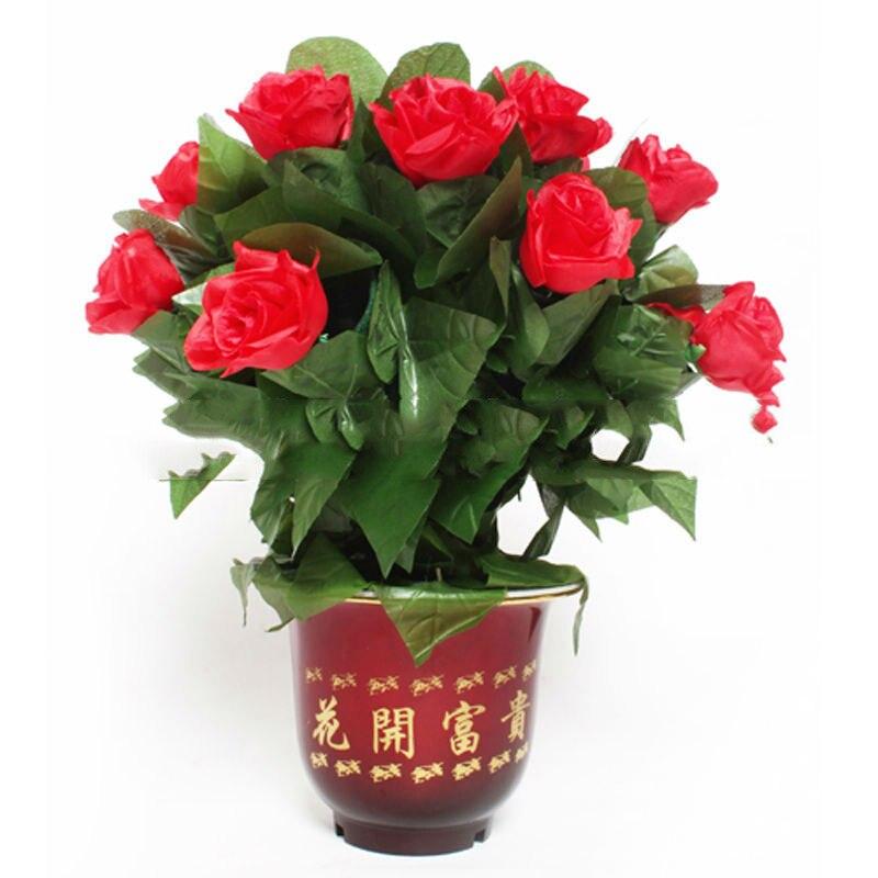 Rose 12 fleurs contrôle à distance automatique des tours de magie de mariage