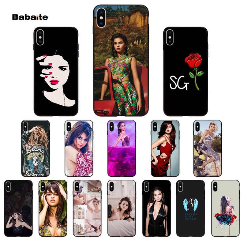Cho Iphone 11 gợi cảm Selena Gomez Thông Minh Màu Đen Mềm Vỏ Ốp Lưng điện thoại Iphone X XS MAX 6 6 S 7 7 Plus 8 8Plus 5 5S SE XR