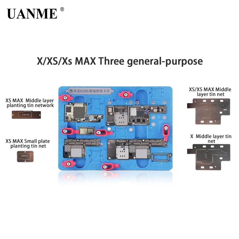 PCB Holder Repair Fixture for iPhone X XS XS MAX Motherboard Planting Tin With BGA Reballing