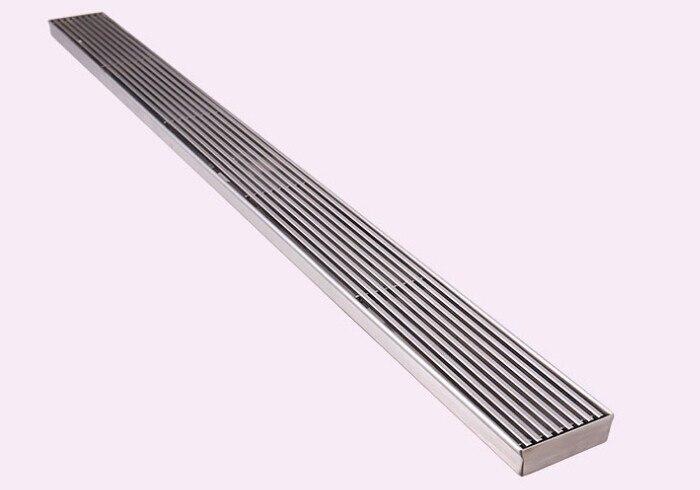 Livraison gratuite 304 acier inoxydable 60 cm linéaire anti-odeur sol drain salle de bains matériel 600mm invisible douche plancher drain DR0555