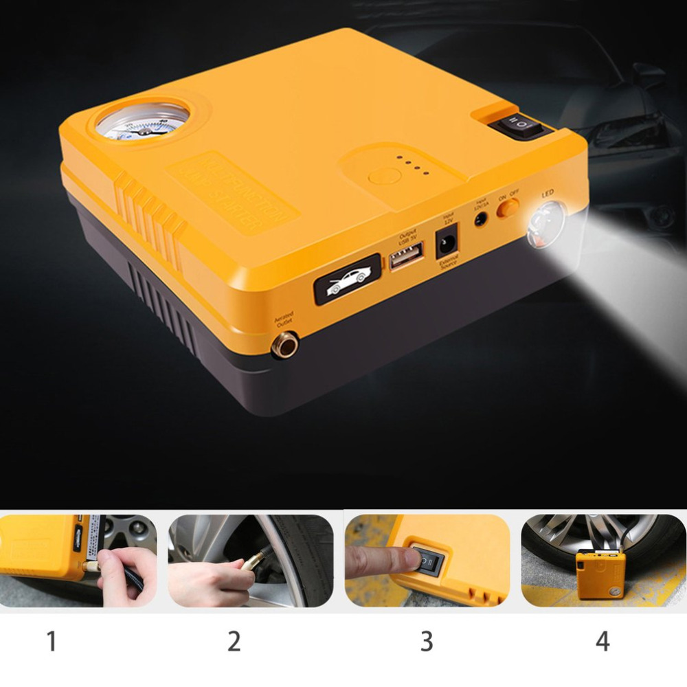 купить New TM16B 16800mAh Car Starting Device Power Bank Car Charger Booster Emergency Battery Quick Starter Electric Inflatable Pump по цене 5172.57 рублей