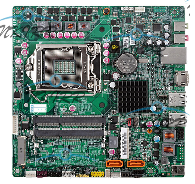 H61H-G11 H61 DDR3 LGA 1155 MotherBoard SYSTEM BOARD SATA2 Mini-ITX HDMI LVDS /// 180 days warranty replacement