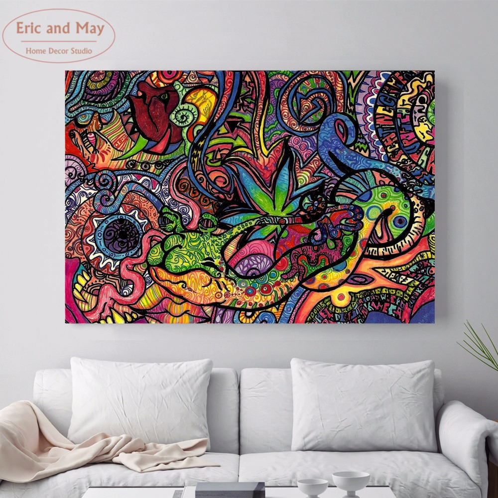 Psychedelic Acid Lsd Acrylic Canvas Art Print Painting
