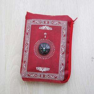 Image 3 - Alfombra portátil musulmana de viaje de bolsillo con brújula alfombra impermeable con brújula Qibla Kaaba brújula