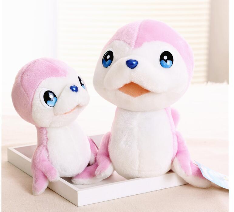 Игрушек! Супер милая плюшевая игрушка мультфильм синий Дельфин mumu hug MUMUHUG розовый БОБО Мягкая кукла подарок на день рождения Рождество 1 шт - Цвет: 15cm small bobo