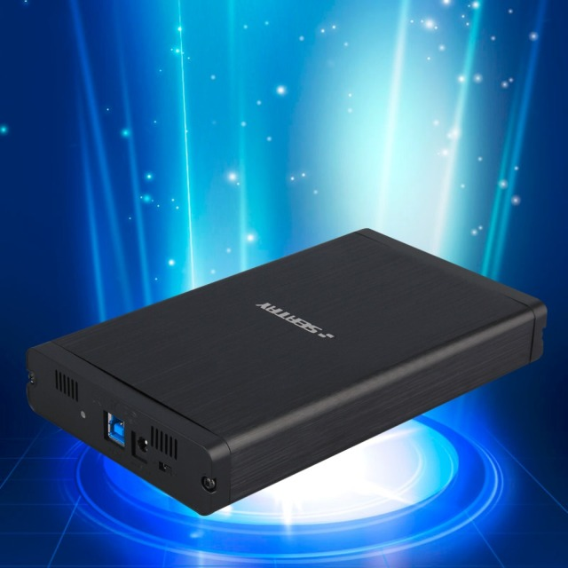 Newest Aluminum USB 3.0 3.5 inch SATA HDD Hard Drive External Enclosure Case Box HOT
