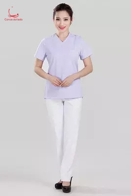 Women's Operation Clothes Fashion Fit Lotus Color Brush Hand Clothes Physician Work Wash Clothes