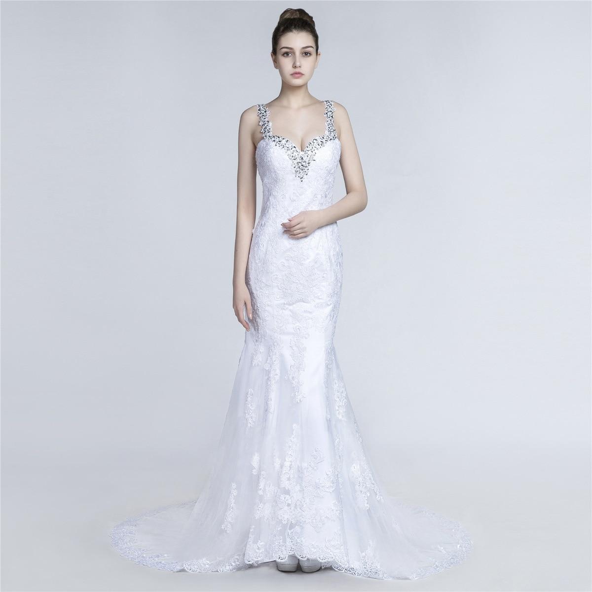 Sweetheart Mermaid Wedding Gown: 2018 New Sexy Sweetheart Mermaid Wedding Dresses Applique